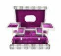 Antique Elephant Designed Wooden Handmade Jewelry Box-purple