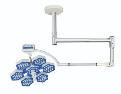 Series 6 - Ceiling Mounted Surgical Led Lights, Single Dome