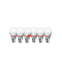 Wipro 9w Pack Of 6 LED Bulbs Cool Day Light