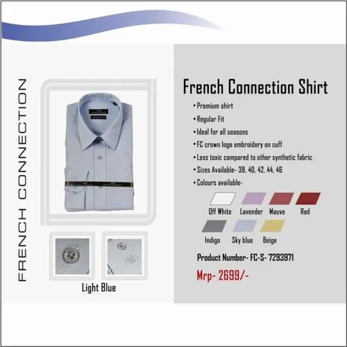 Full Long Sleeve French Connection Shirt, For Official Wear