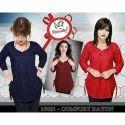 Ladies Rayon Plain Long Kurti, Color: Red, Blue & Maroon