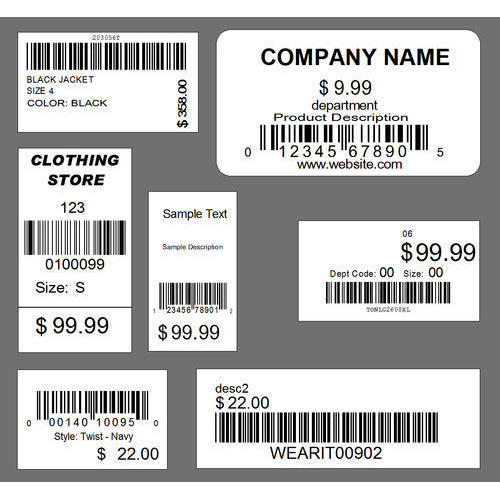 Packaging Barcode Label  Product Label Sample