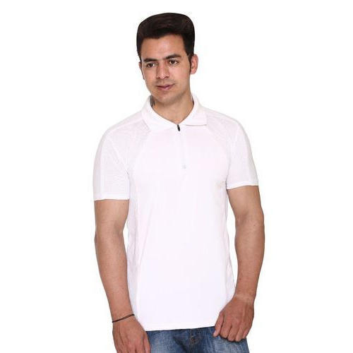 50f7f26c Mens Half Sleeves Plain White Blank Polo T-Shirt, Size: S, Rs 450 ...