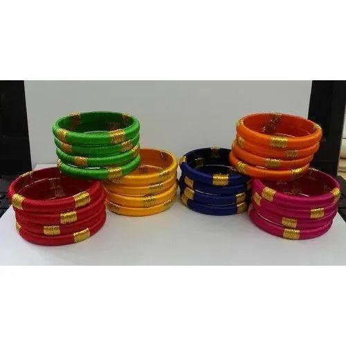 Gift Round Silk Thread Bangles