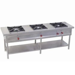 3 Gas Stainless Steel Three Burner Range