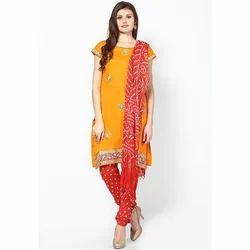 Round Neck Ladies Embroidered Salwar Suit