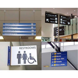 Rectangular Pvc Foam Mall Direction Sign Board Printing