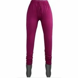 Ladies Plain Cotton Lycra Leggings
