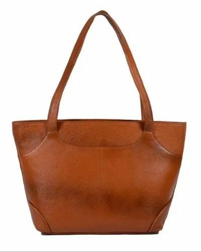 Teckcraft Couture Brown Leather Women Bag, Size: 17x11 Inch