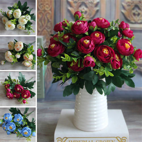 Blue pink and white artificial fake peony flower rs 1095 pack blue pink and white artificial fake peony flower mightylinksfo