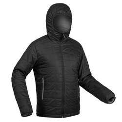 Decathlon TREK 100 HOOD black Pipe Men Mountain Trekking Padded Jacket