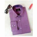 Mens Purple Formal Shirt