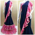 Trendy Ruffle Design Saree