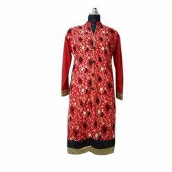 Ladies Woolen Kashmiri Embroidery Kurti