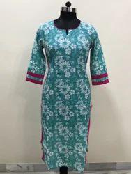 Cotton Floral Kurti / Tunic