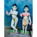 Isckon Radha Krishna White Statue