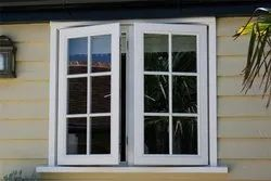 RK Framing Residential UPVC Casement Window, Glass Thickness: 5-9 mm