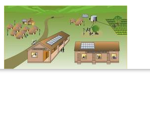 Village And Town Solar Power Model