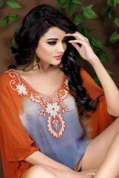 Silk Beading Dress Top