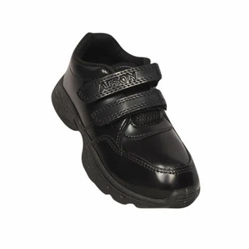 Afson Black Boys School Shoes, Size: 1