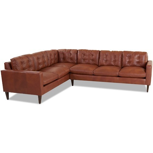 brown button backed l shaped leather sofa at rs 66500 unit rh indiamart com l shaped leather sofa set l shaped leather sofa with chaise