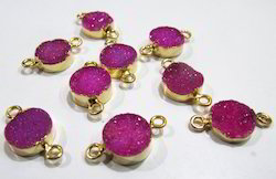 Druzy Connector 24 Kt Gold Electroplated