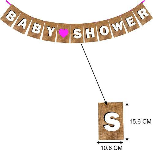 Wobbox Baby Shower Banner Pink Party Decoration Set Of One Baby Shower Banner For Baby Shower Decor ब ब श वर ड क र शन ग द भर ई क सज वट क स म न ग द भर ई क सज वट क स म न