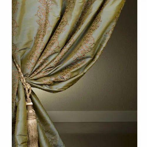 Printed Silk Curtain Fabric, GSM: 100-150