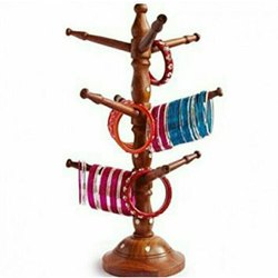 Brown Wooden Bangle Stand