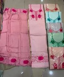 Pure Cotton Allover Thread Embroidered Suit With Matching Dupatta, Adult
