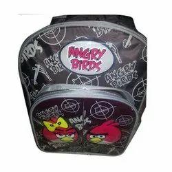 Black Angry Birds Printed School Bag