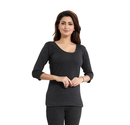 Black 3/4th Sleeved Vest Women Thermal Wear, Rs 430 /piece Karnatak Trading  Company | ID: 21328680548