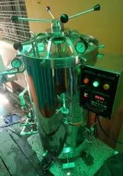 Semi Automatic steam storage Vertical Autoclave