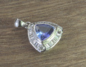 Tanzanite Diamond White Gold Pendant