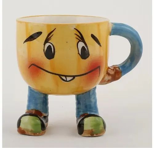 Neelkanth Traders Handmade Ceramic Cartoon Milk Mug for Home