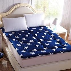 Single Bed Blue Mattress