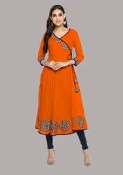 Bollywood Cotton Embroidered Kurti