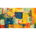 PVC Printed Canvas Painting Wallpaper