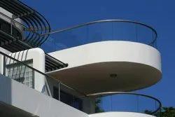 Curve Glass Balcony Railing