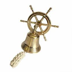 Brass Nautical Ships Wheel Bell