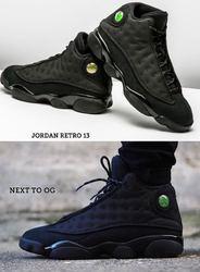 Black Jordan 13 Shoes