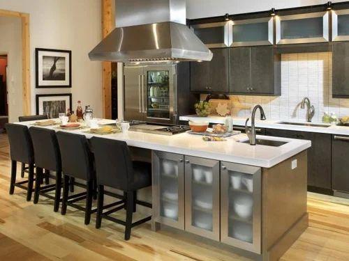 Commercial Island Kitchen, Warranty: 1-5 Years