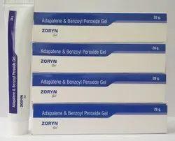 Zoryn Adapalene With Benzoyl Peroxide Gel, Tube, Packaging Size: 20gm
