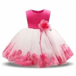 White & Pink Rose Frock