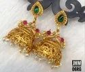 South Indian Style Matt Finish Copper Jhumki JHM 06
