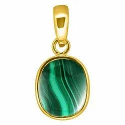 Malachite Crystal Pendant Panchdhatu Gemstone