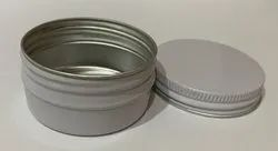 Aluminum Metal Screw Lid Container, Packaging Size: 35gm