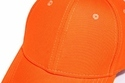 Orange Cotton Baseball Cap