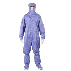 Antistatic And Non Linting Dangri Only Coverall Clean Room Garment For Food, Pharmaceutical , Esd An