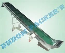Inclined Conveyor Belt For Cosmetic Industry